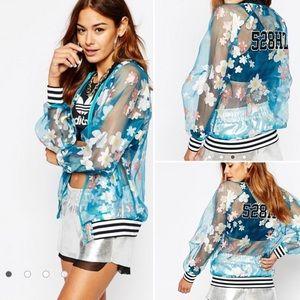 Adidas Pharrell Williams Floral Bomber Jacket